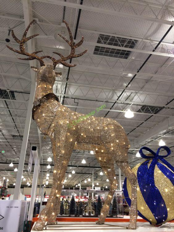 "82"" LED Glitter String Elk"