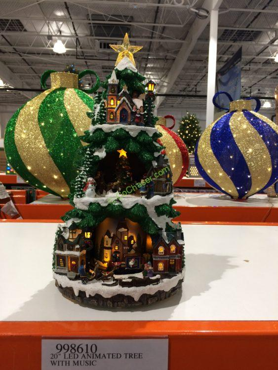 costco 998610 20 led animated tree with music
