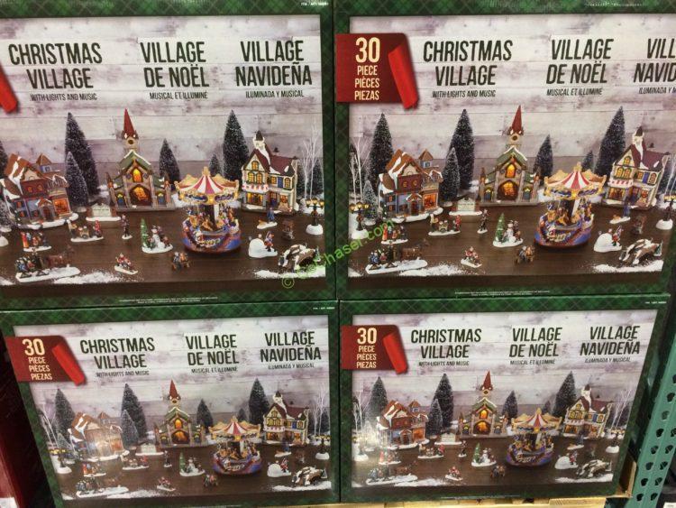 costco 998983 christmas village led lights music all