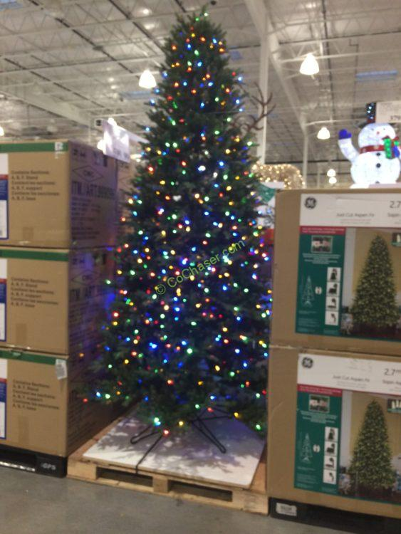 Costco-999095-GE-9FTPre-LitLED-Dual-Color-Christmas- - GE 9 FT Pre-Lit LED Easy Light Technology Dual Color Christmas Tree
