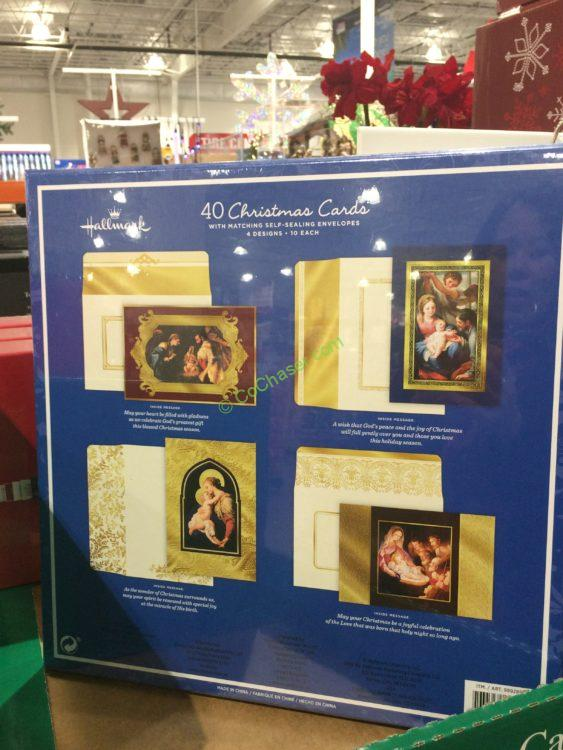 costco 999289 hallmark christmas cards 40count back