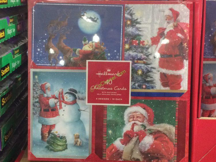costco 999289 hallmark christmas cards 40count - Costco Christmas Photo Cards