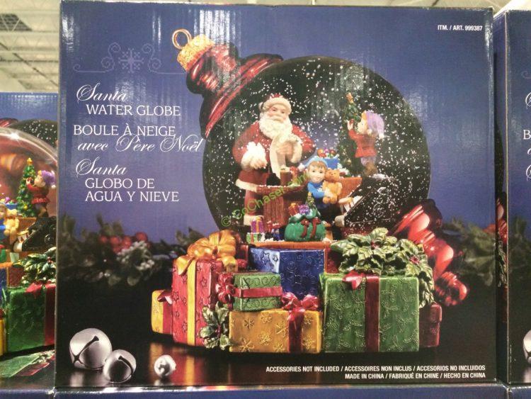 Santa Water Globe With Snow Blower Costcochaser
