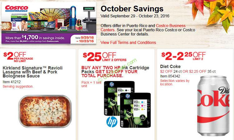 Costco Coupon Book: Sep. 29 – Oct. 23, 2016