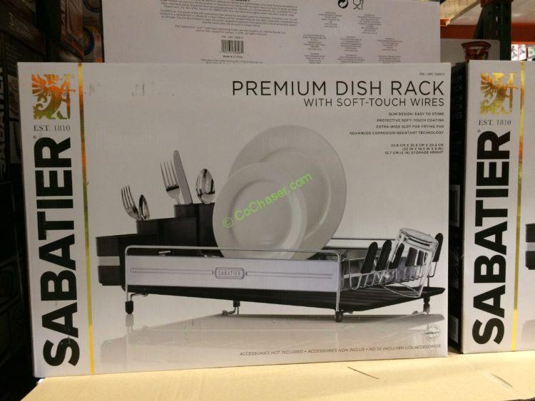 Sabatier Premium Dish Rack CostcoChaser Amazing Sabatier Expandable Dish Rack With Soft Touch Coating