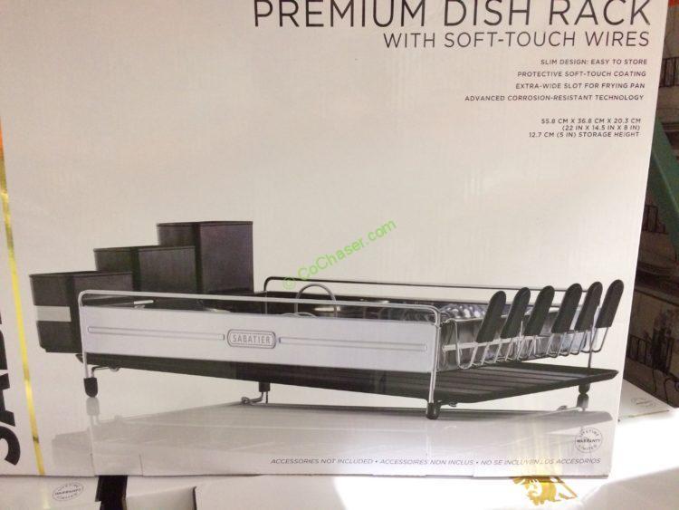 Sabatier Premium Dish Rack CostcoChaser Classy Sabatier Expandable Dish Rack With Soft Touch Coating