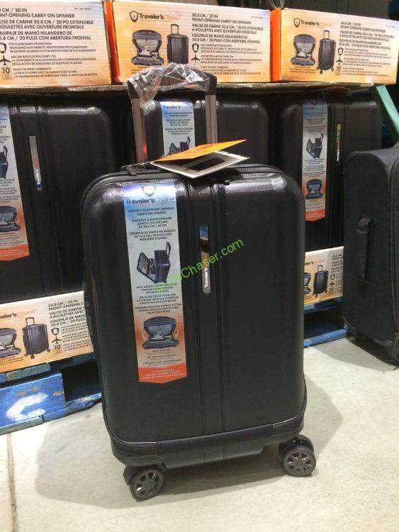 Traveler's Choice Rolling Hardside Front Open Carry On