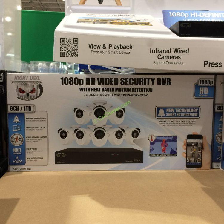 Night Owl Hd Security System 8 Channel 8 Cameras