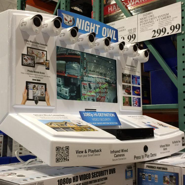 Costco Home Store Locations: Night Owl HD Security System 8-Channel /8 Cameras