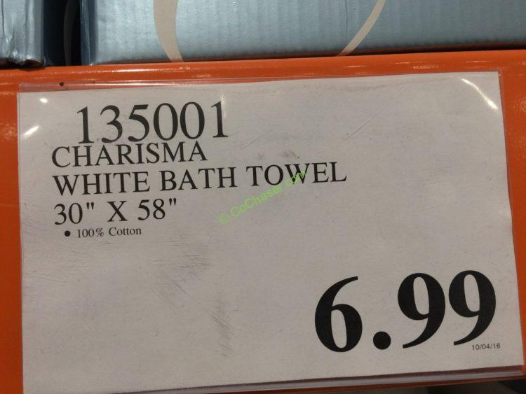 Costco-135001-Charisma-White-Bath-Towel-tag