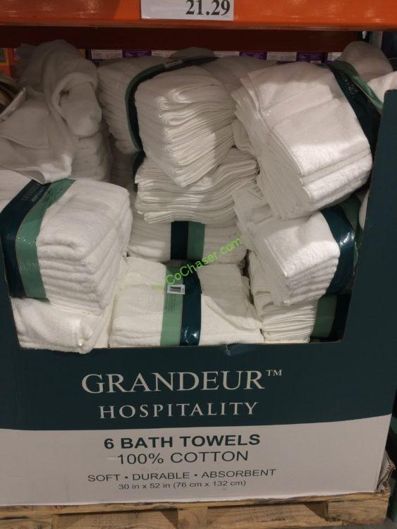 Grandeur Hospitality Bath Towel 6 Pack