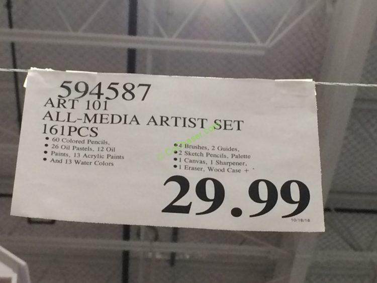 Art 101 All Media Artist Set 161pcs Costcochaser