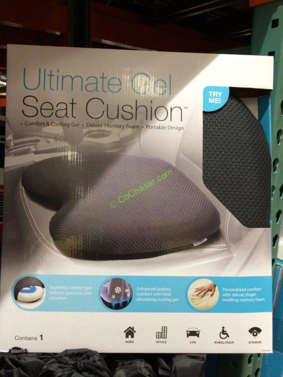 Costco 615905 Ultimate Gel Comfort Seat Cushion Back