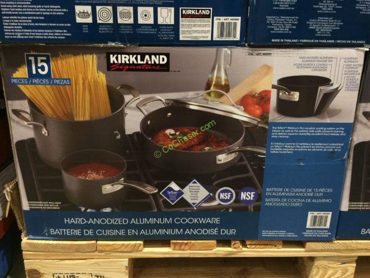 Costco 695900 Kirkland Signature 15 Pc Hard Anodized