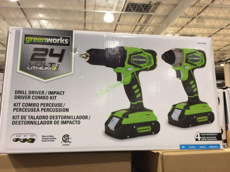 Greenworks 24V Drill Driver / Impact Driver Combo, Model# CK24B220
