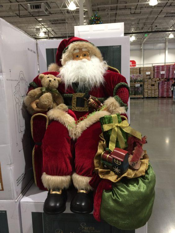 "30"" Santa Sitting in Chair"