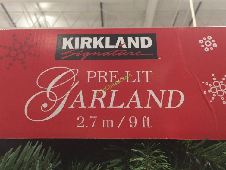 Kirkland Signature 9 Pre Lit Led Garland Costcochaser