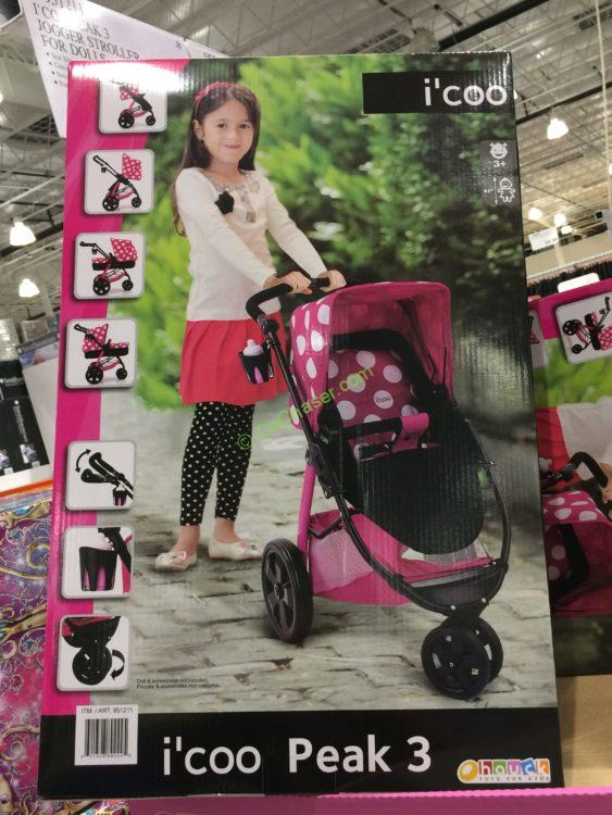 I Coo Peak 3 Jogger Stroller For Dolls Costcochaser