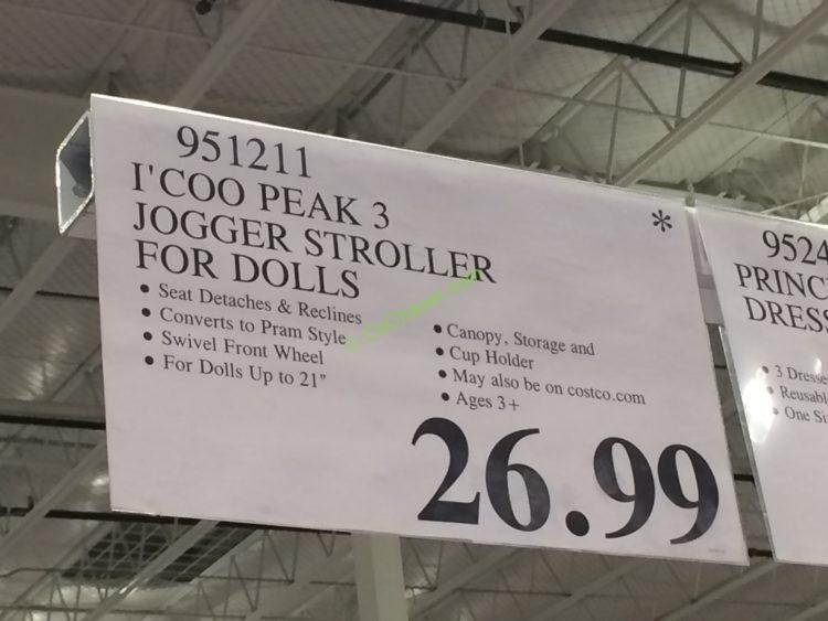 I Coo Peak 3 Jogger Stroller For Dolls Costcochaser