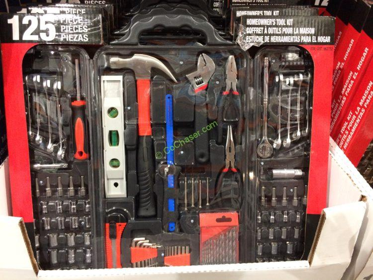bonaire 125pc homeowners tool kit, model# hk125c – costcochaser