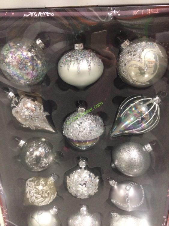 Kirkland Signature 14 Pc Hand Decorated Glass Ornaments