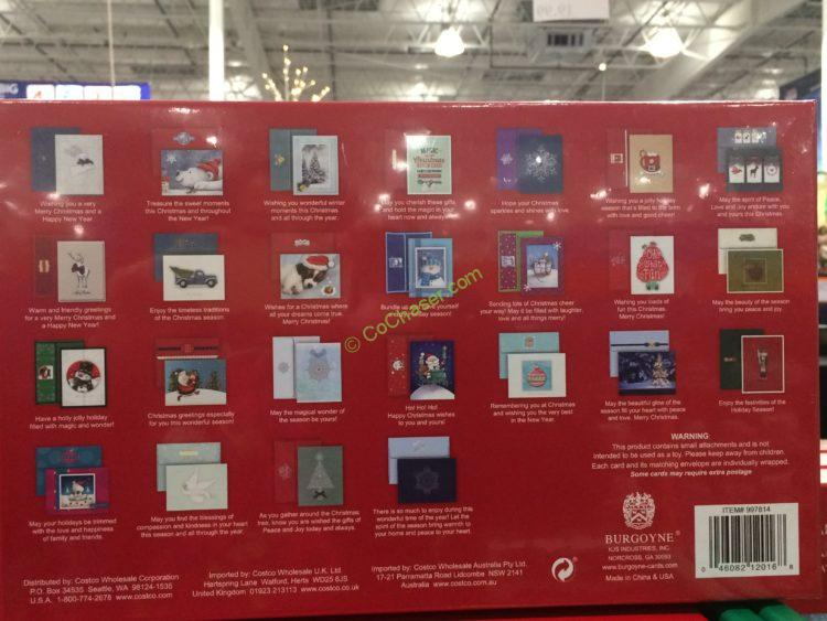 costco 997814 burgoyne handmade christmas cards show - Costco Photo Christmas Cards