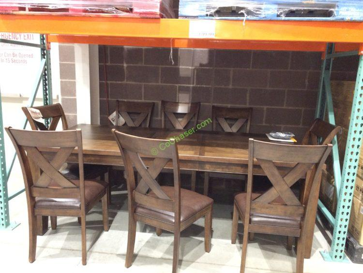 Counter Height Universal Table : solids and oak veneers, this Universal Broadmoore 9PC Counter Height ...