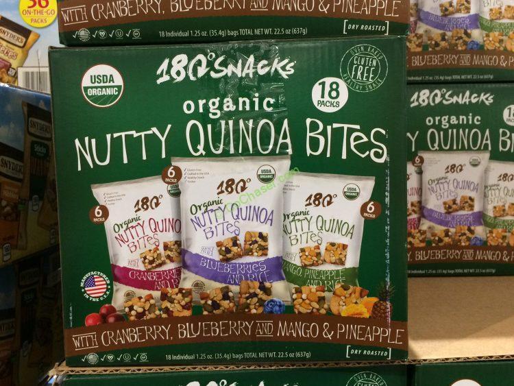 180 Snacks Organic Quinoa Bites 18 Count Box