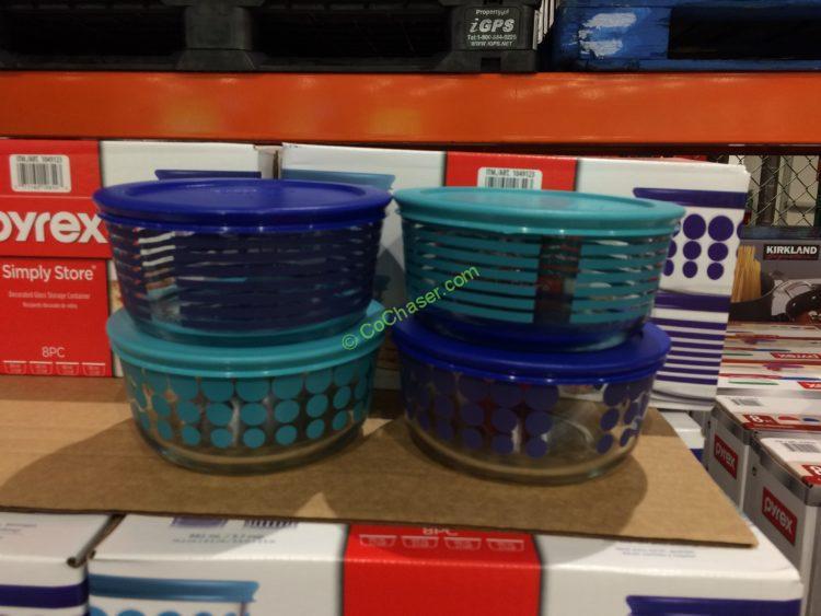 Costco 1049123 Pyrex 8PC Decorative Glass Food Storage