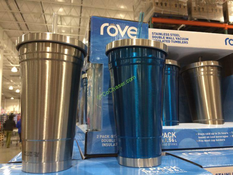 Rove 2PK Stainless Steel Tumblers 4 Straws