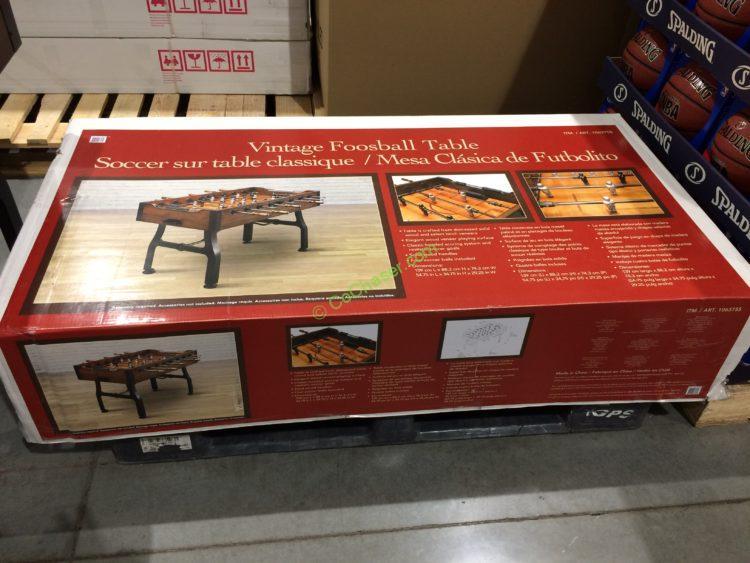 Costco 1063755 Vintage Foosball Table Box Costcochaser