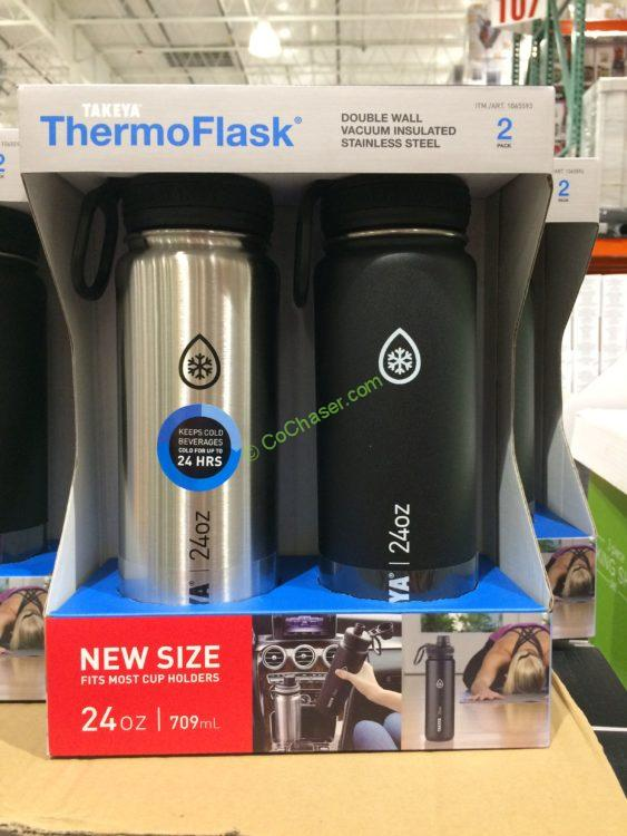 Takeya 24 OZ Thermoflask 2PK Water Bottles
