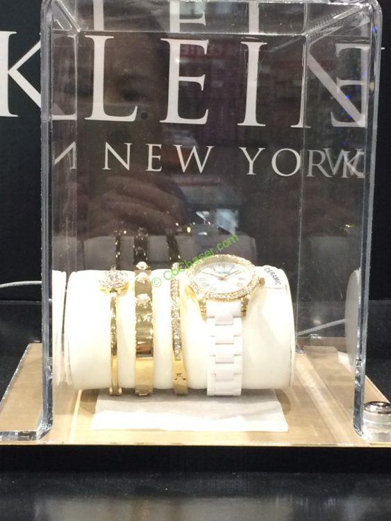 Anne Klein New York Gold-Tone / Silver-Tone  & Ceramic Ladies Watch Set