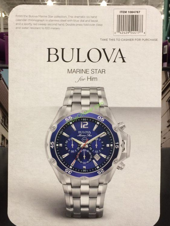 bulova marine stainless steel s chronograph