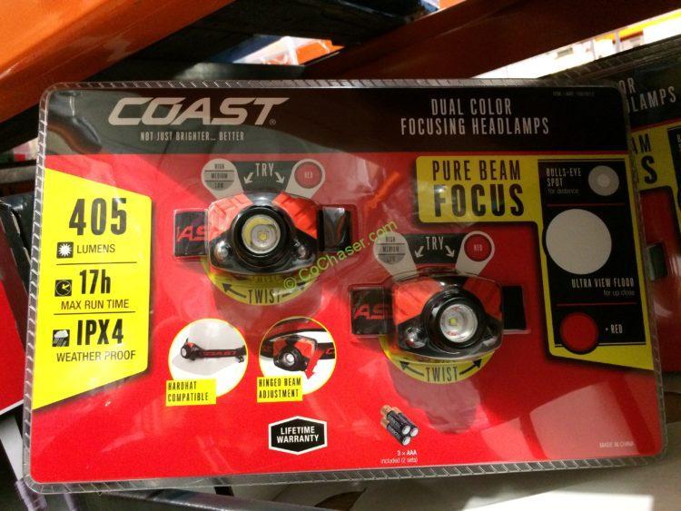 Coast LED Headlamps 2-pack