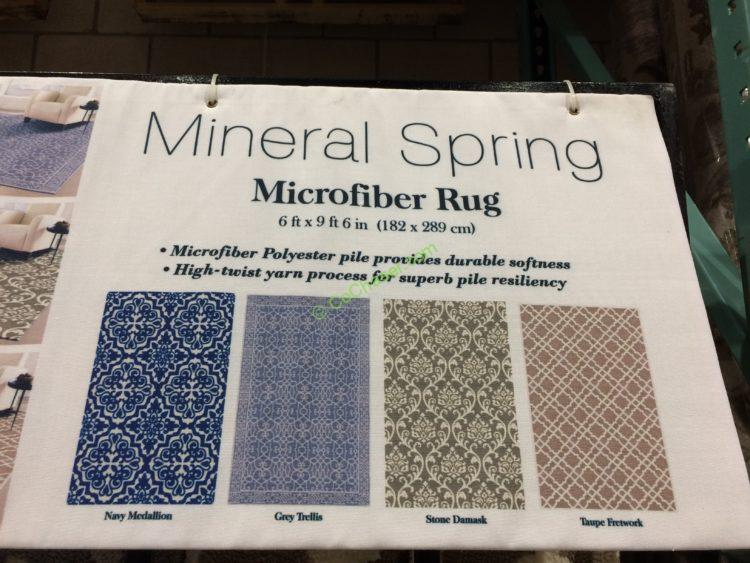 Mineral Springs Microfiber Area Rug 6 X 9 6 Costcochaser