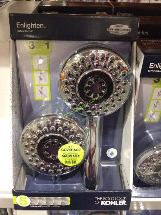 Kohler Enlighten Showerhead Handshower COMBO, Model# R75568-CP ...