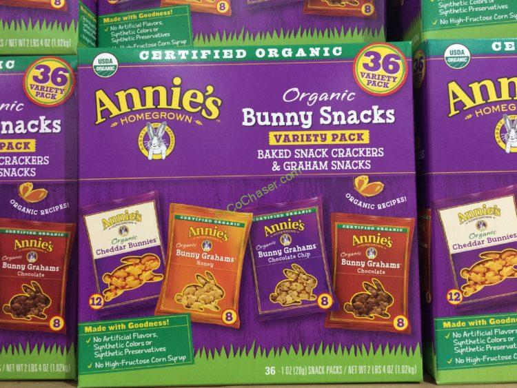 Annies Organic Bunny Snacks 36 Count Box
