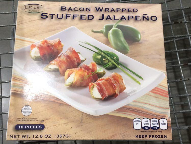 J. Scott Foods Bacon Wrapped Jalapeno 18 Count Box