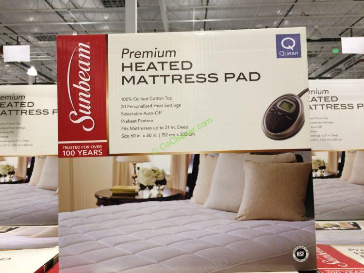 Sunbeam Premium Heated Mattress Pad Costco-141253-141254-Sunbeam-Premium-Quilted-Heated-Mattress-Pad-face