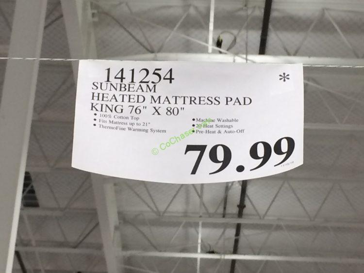 Sunbeam Premium Quilted Heated Mattress Pad, Queen or King