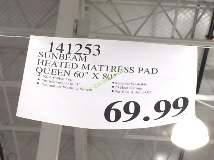 sunbeam premium quilted heated mattress pad queen or king - Heated Mattress Pad King