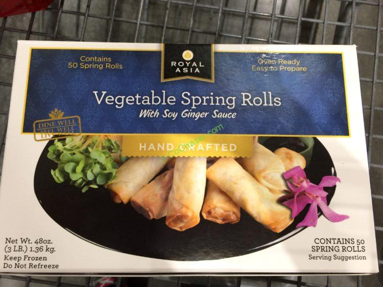 Royal Asia Vegetable Spring Rolls 50 Count Box