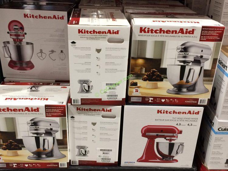 Costco 625583 KitchenAid 4.5QT Stand Mixer With Tilt Head All