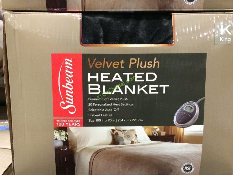 Sunbeam Heated Blanket Queen Or King Costcochaser