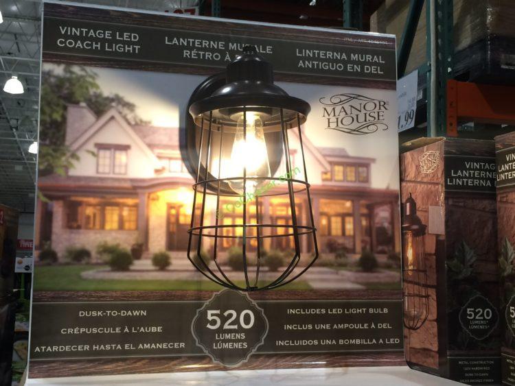 Manor House Vintage Led Coach Light Costcochaser