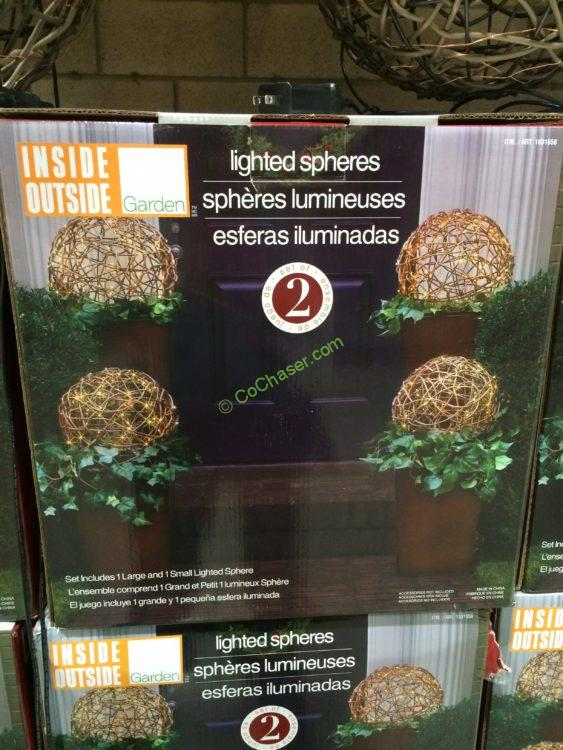 Set Of 2 Pre Lit Led Spheres Costcochaser & Outdoor Lighted Spheres - Outdoor Lighting