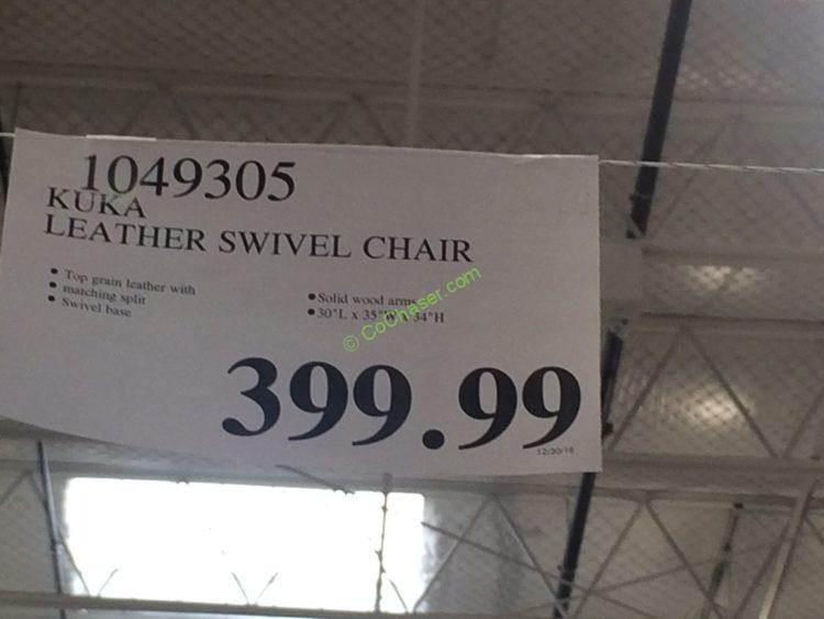 Costco-1049305-KUKA-Leather-Swivel-Chair-tag