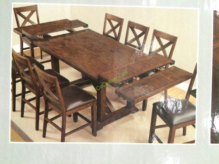 Bayside Furnishings 9pc Counter Height Dining Set Costcochaser