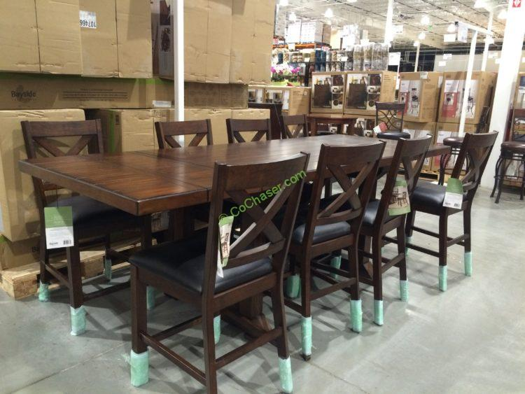 Costco 1074667 Bayside Furnishings 9PC Counter Height Dining